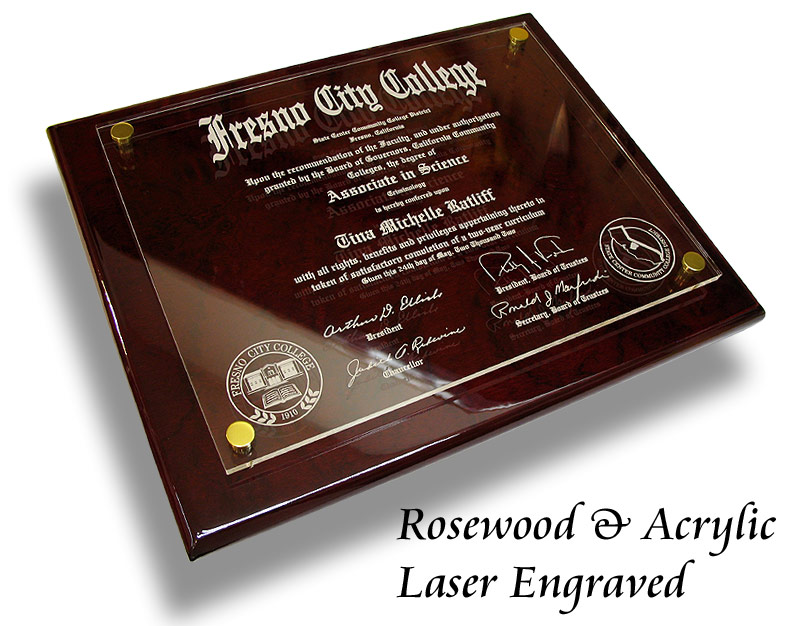 floating acrylic diploma plaques. Black Bedroom Furniture Sets. Home Design Ideas