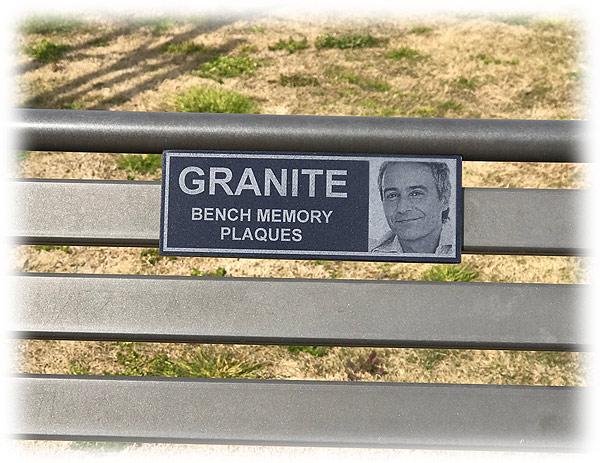 Granite Bench Plaque