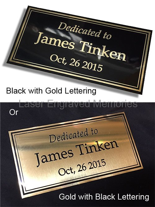 brass plates laser engraved custom size