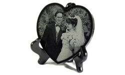 Granite Heart with personalized engraving
