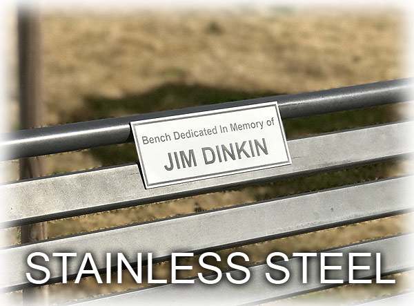 Stainless Bench Plaque
