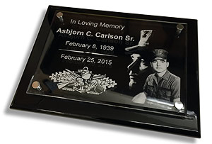 military dedication plaques