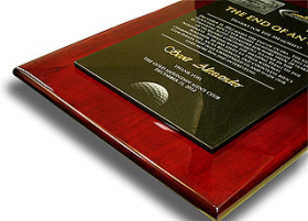 Granite Rosewood Plaque 4