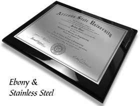 Ebony and Stainless Plaque