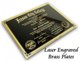 Brass Plates Engraved 3
