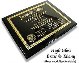 Metal Diploma Plaque 2
