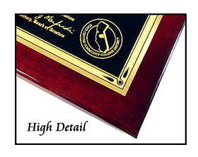 Metal Diploma Plaque 3