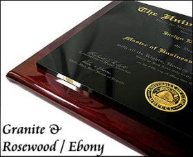 Granite & Piano Plaque Diploma