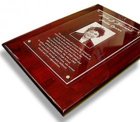 Piano Finish Floating Acrylic Plaque