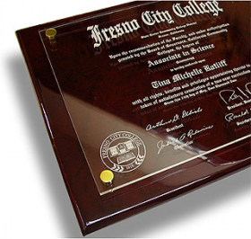 Floating Acrylic Diploma Plaque