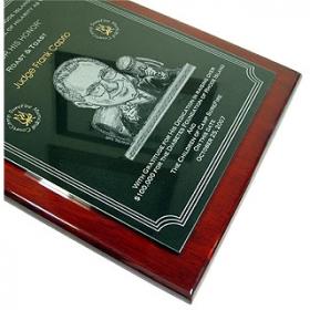 Granite Rosewood Memorial Plaque 3