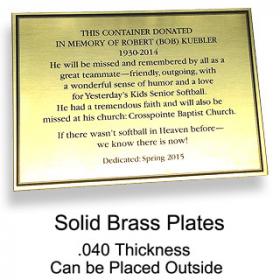Brass Plates
