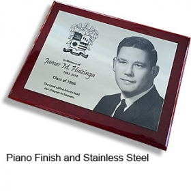 Piano & Stainless Plaque