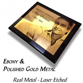 Piano & Polished Gold Plaque 2
