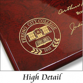 Piano Finish Diploma Plaque Detail