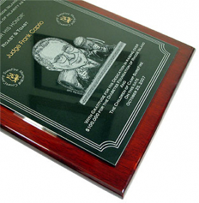 Granite & Rosewood Plaque