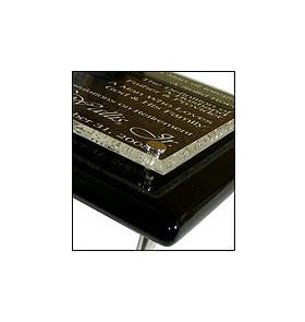 Piano Finish Floating Acrylic Plaque 2