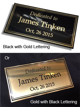 Brass Plates Engraved 2