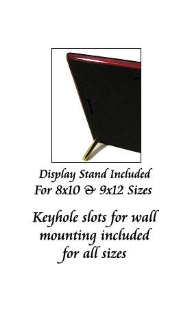Piano Finish Floating Acrylic Plaque (Back)