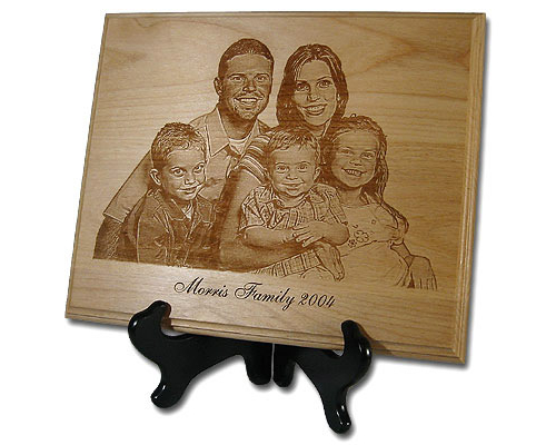 Engraved Wood Photograph