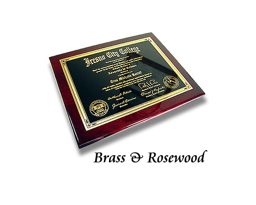 Metal Diploma Plaque