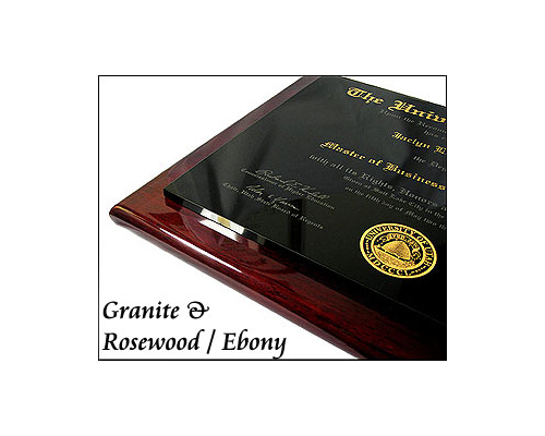 Granite & Piano Plaque Diploma