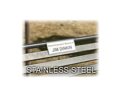 Engraved Stainless Bench Plaques