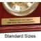 Engraved Brass Plate Standard