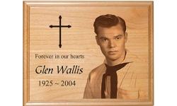 Wood Memorial Plaque (Alder Wood)