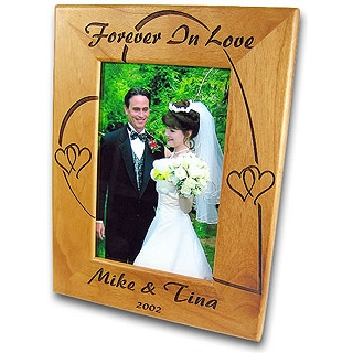 funeral keepsakes - engraved picture frames