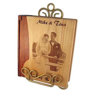 funeral keepsakes - engraved photo albums